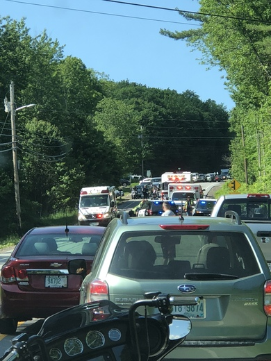 Bike accident on parade rd in Meredith of Friday around 330