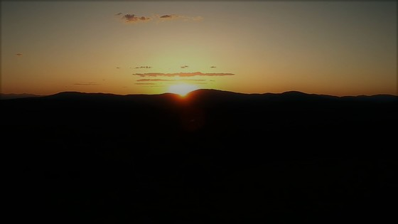 sunset looking at streaked mountain from my dji spark drone