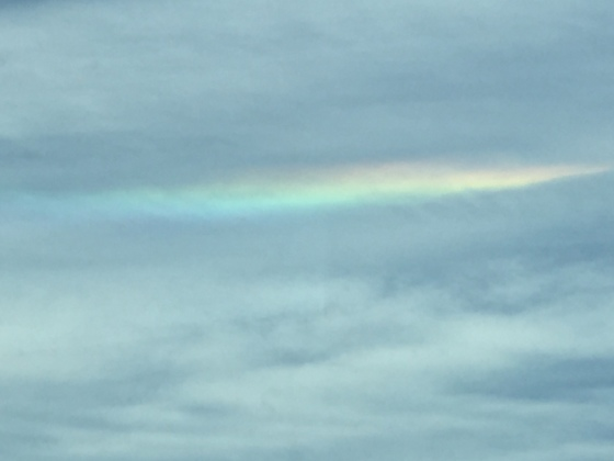 Cloud rainbow seen heading south on I95 in Wells, Maine at about 1PM on Sunday