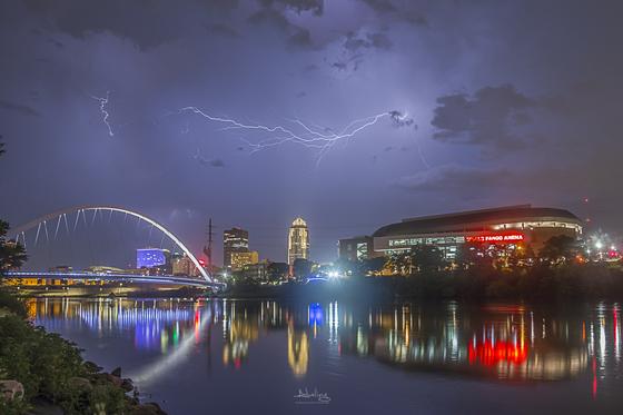 Lightning over Des Moines
