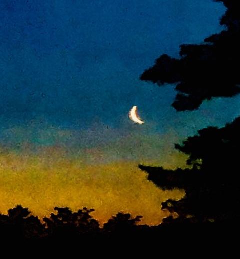 Moonrise over Lake Cobbosseecontee
