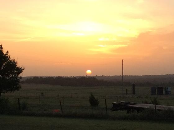 Beautiful sunrise North of Stroud Ok.