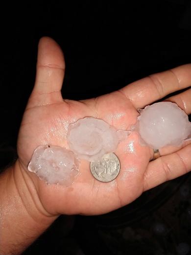 Hail in Gretna