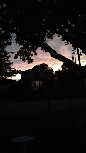Clouds west of our house in N.E. Omaha