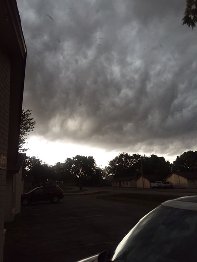 Storm clouds rolling in this morning from Southside of fort Smith.