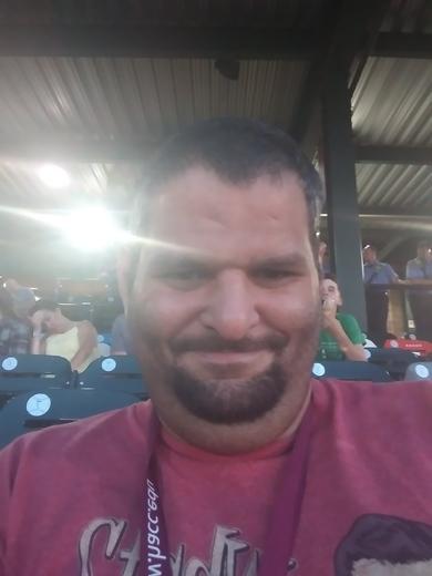 At at the Barnstormers game enjoying the a good baseball game
