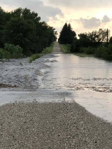 Flooding of Keigley Creek in southern Hamilton county