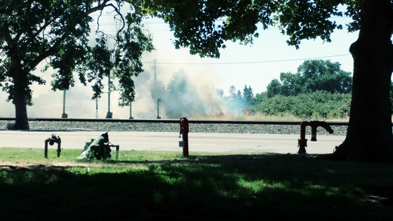 Fire at 10:40am on Folsom Blvd and Wiseman rd.