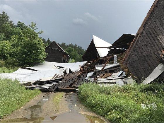 Waitsfield Barn Wind Damage