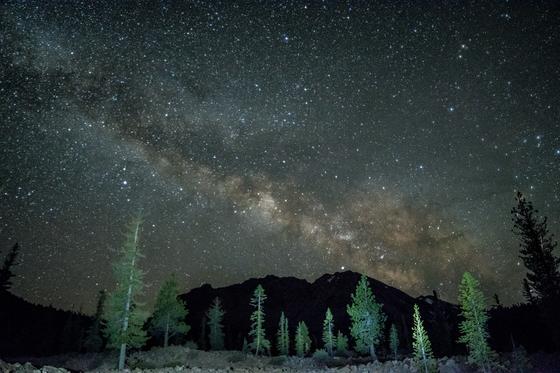 Milkyway over Lassen Volcanic National Park