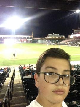 Was at the barnstormers baseball game tonight
