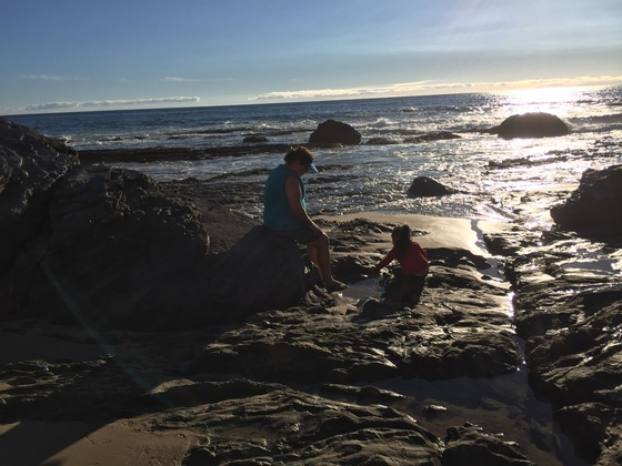Before sunset at Crystal Cove state beach