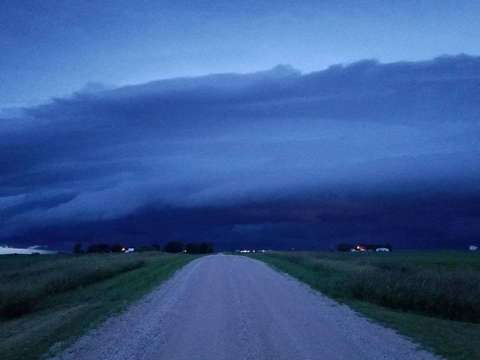 Storm approaching Clarion @ 9pm