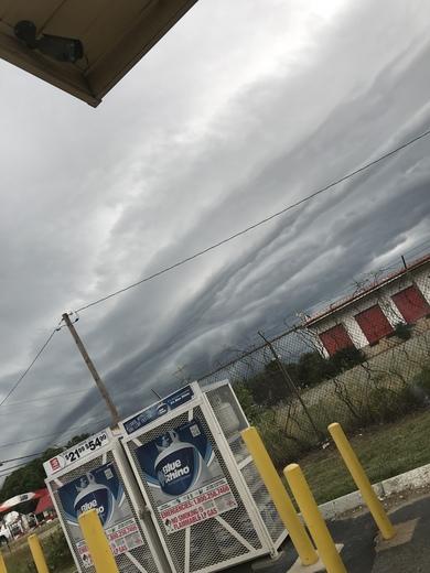 Winston Salem yesterday storm
