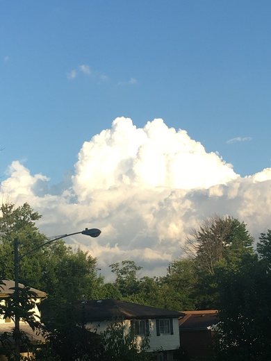 One of the most beautiful after the storm cumulus cloud(s) I have ever seen