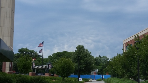 Mamatus clouds at UNO.