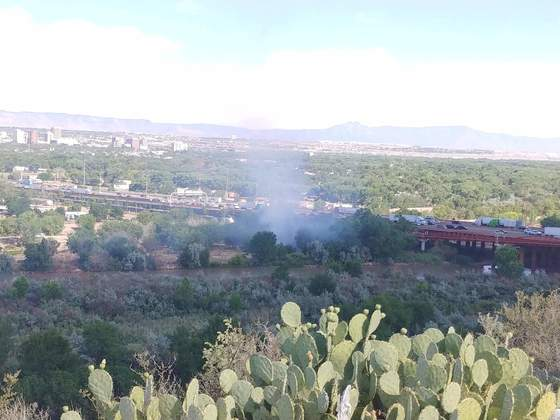 Fire I40 and coors at Rio Grande