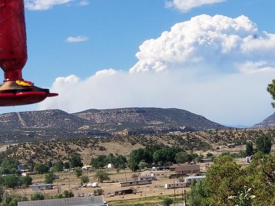 416 fire as seen from Cedar Hill, NM
