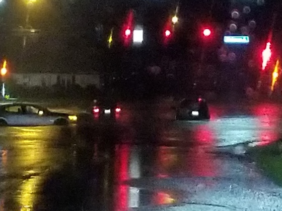 9:30 P.M. going north on 63rd street to Hickman road.