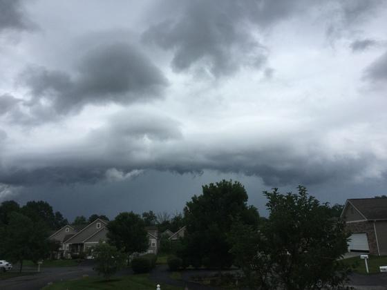 On edge of storm.