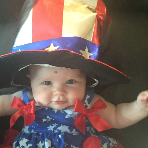 Haddie Brandt wishing everyone a Happy and Safe 4th of July.