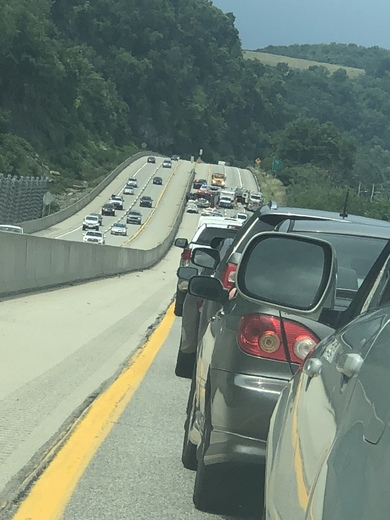 Wreck on 28 northbound around 2:30 pm close to harmar exit blocking all lanes
