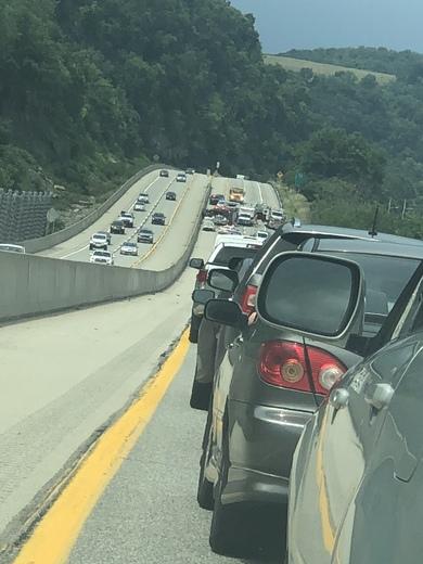 Wreck on 28 northbound around 2:30 pm close to harmar exit blocking all lanes