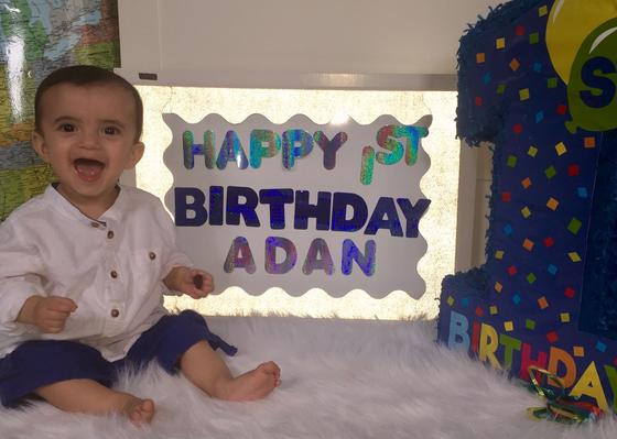Adan S.1's first birthday