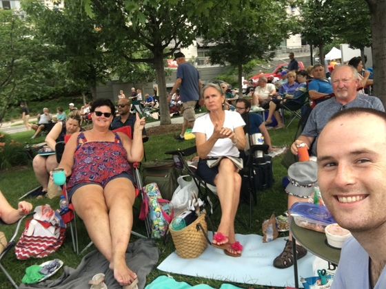 Enjoying a beautiful night of music at Jazz on the green.