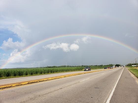 Perfect dome shape rainbow
