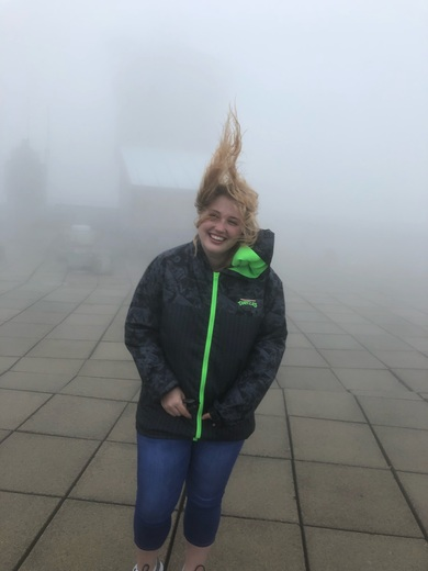 Slight breeze on Mt Washington!
