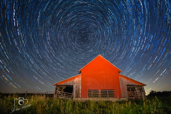 Star Trails in Clarke County - Photo by Dave Austin
