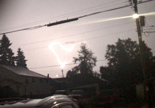 Heart Shaped Lightning Wawa Ontario