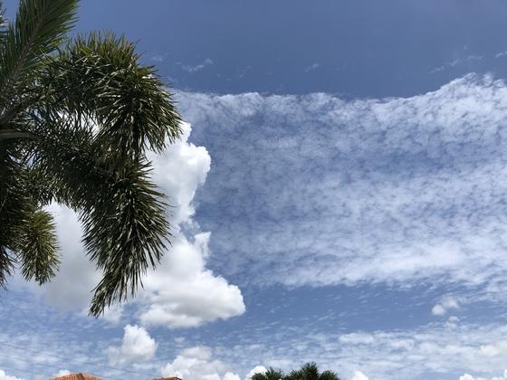 Odd cloud formation