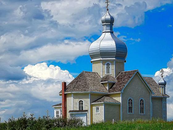 Ukrainian church, Alberta, Canada
