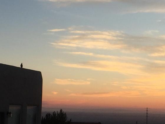 Bird's-Eye View of Sunset from High Desert!