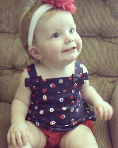 Hi it's my Daughter Adelyn Jean Davis 1st birthday today