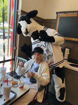 Chic Fil a  Cow with Willie Watson