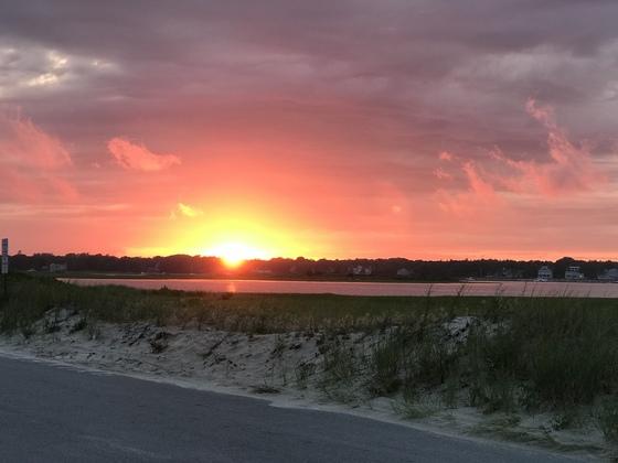 Sunset at West Dennis Beach, Cape Cod