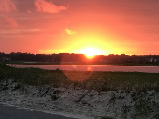 Sunset at West Dennis Beach, Cape Cod