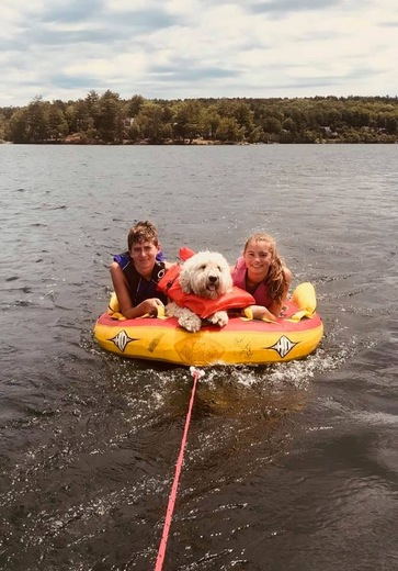 Tubing in Paige's bay