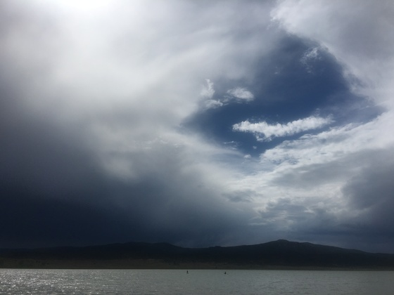 Storm rolling in at Storrie Lake