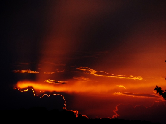 sunset clouds, 7-12-2018