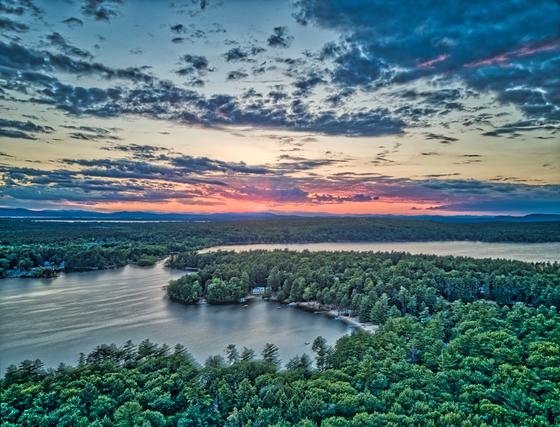 Sunset, from Windham, Gray, Raymond