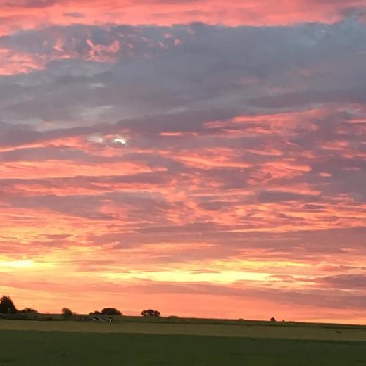 Morning sky over Lexington