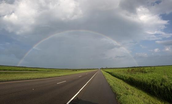 Rainbow this Morning7/13 on my way to Thibodaux.