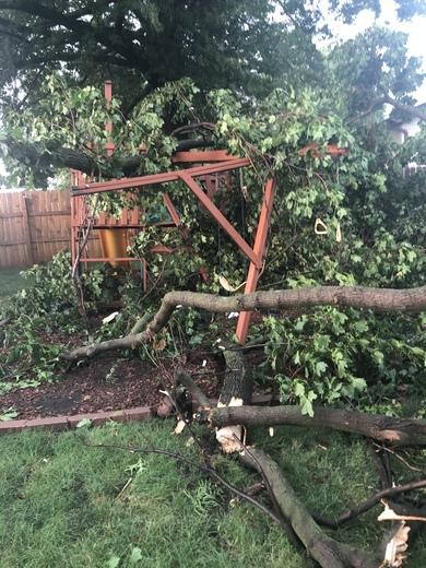 Damage in Pella!