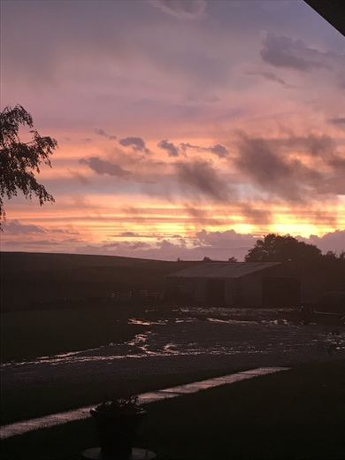 BEAUTIFUL Iowa sunset tonight!