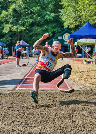 Gravity Prevails At The End Of The Long Jump