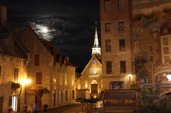 Quebec Church at Night